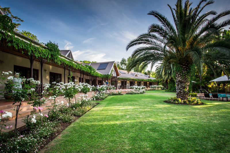 Garden at Hlangana Lodge